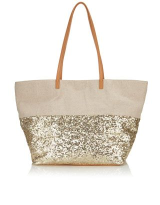 Sequin Beach Tote Bag | Nude | Accessorize | Vacations and Such ...