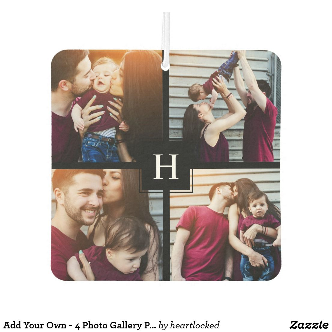 Add Your Own 4 Photo Gallery Personalized Air Freshener