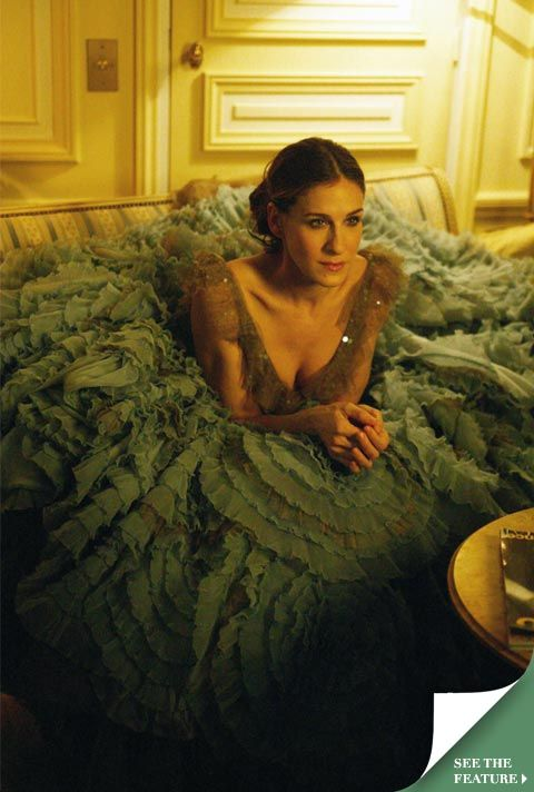 "SJP-huge fan of Sex and the City; love this scene in the finale in  Paris-that ""ballet dress""!"