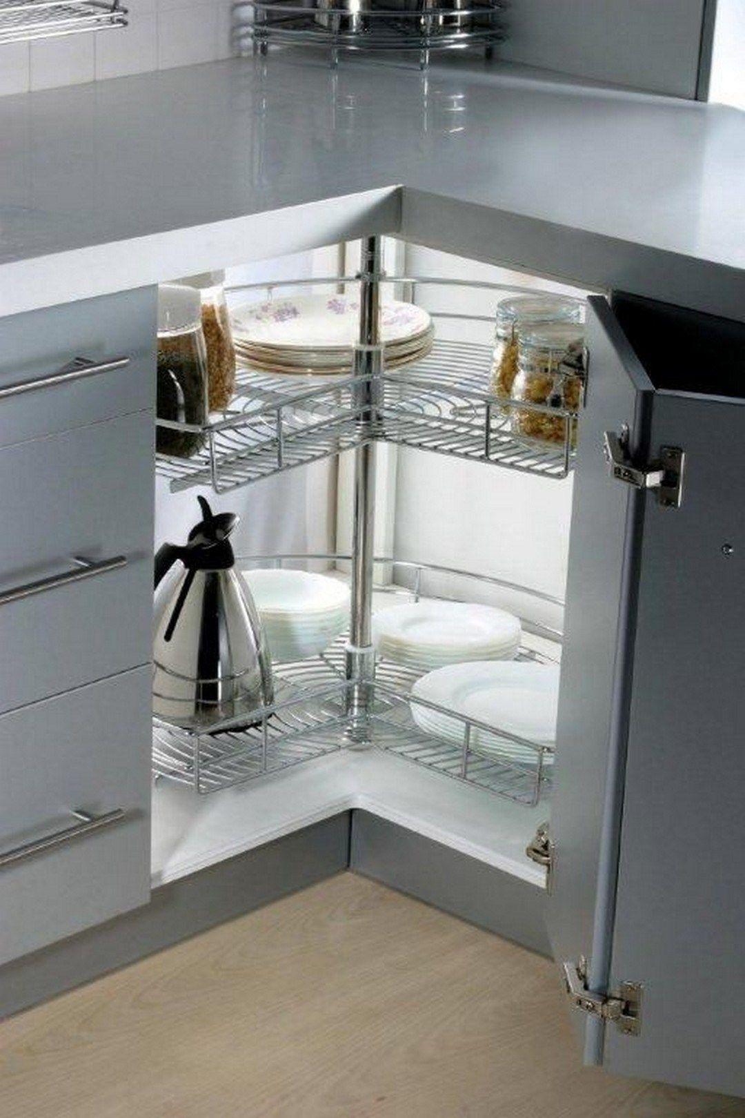 45 Gorgeous Corner Cabinet Storage Ideas For Your Kitchen Corner Storage Cabinet Diy Kitchen Storage Corner Cabinet