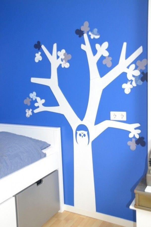 boom van de karwei, blaadjes gemaakt van behangstaaltjes uit de, Deco ideeën