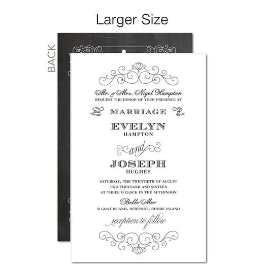 Vintage Union Signature White Wedding Invitations East Six