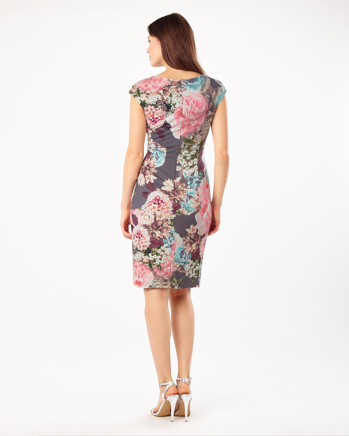 A Slinky Jersey Dress In A Beautiful Floral Print With A