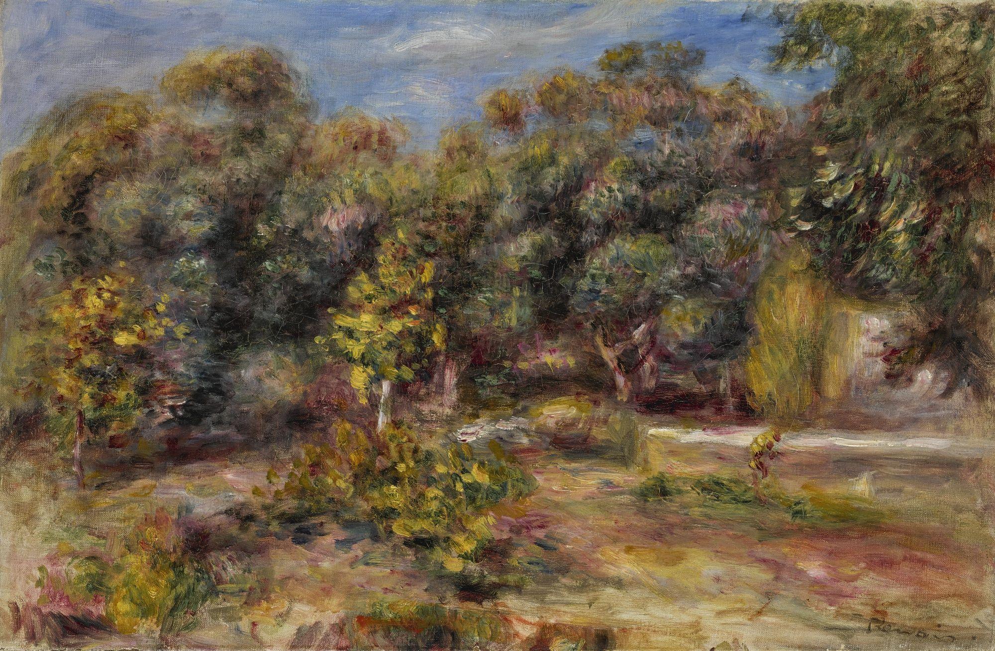 Pierre Auguste Renoir 1841 1919 PAYSAGE DU MIDI Signed Renoir
