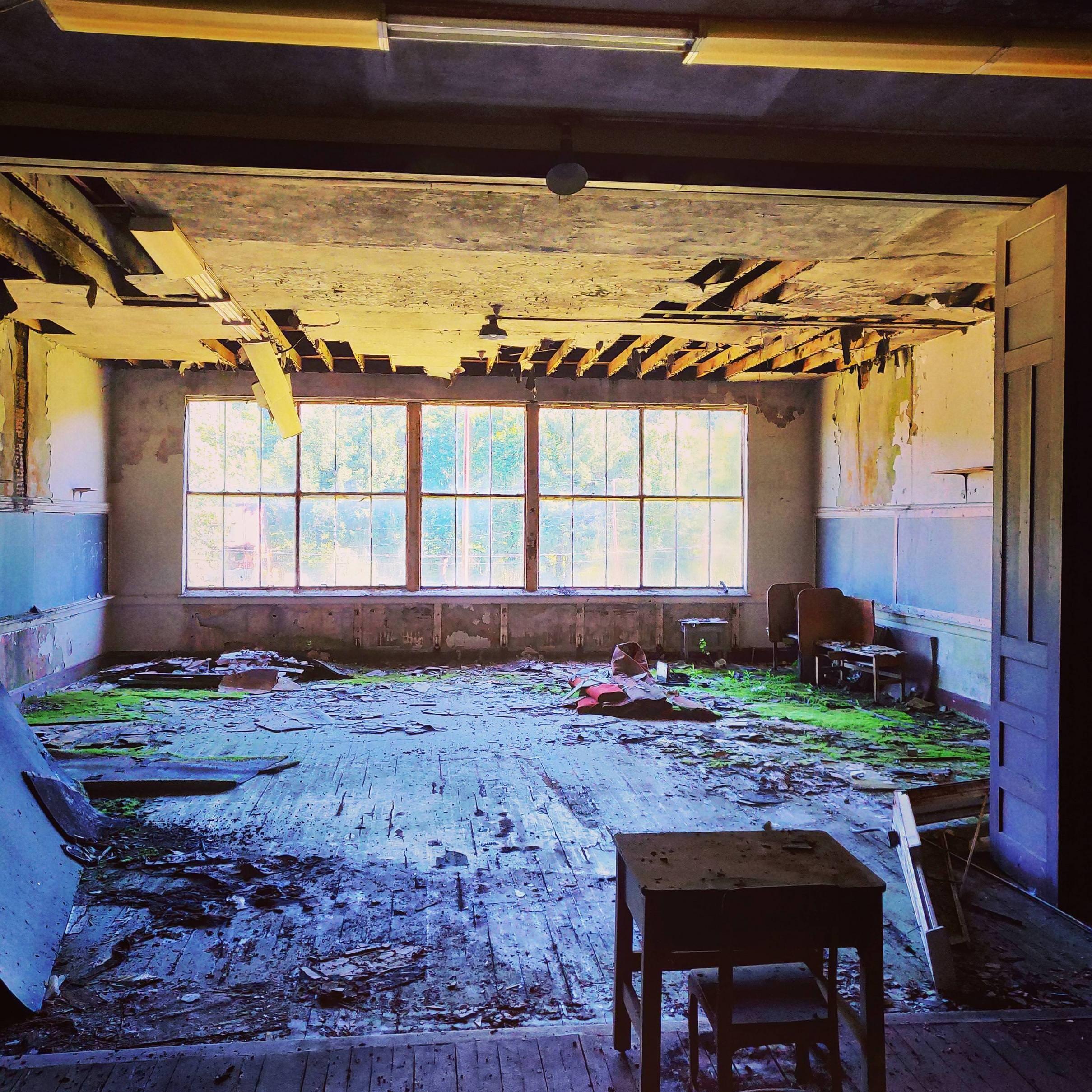 Abandoned School Auditorium [Oc] [3456X3456]