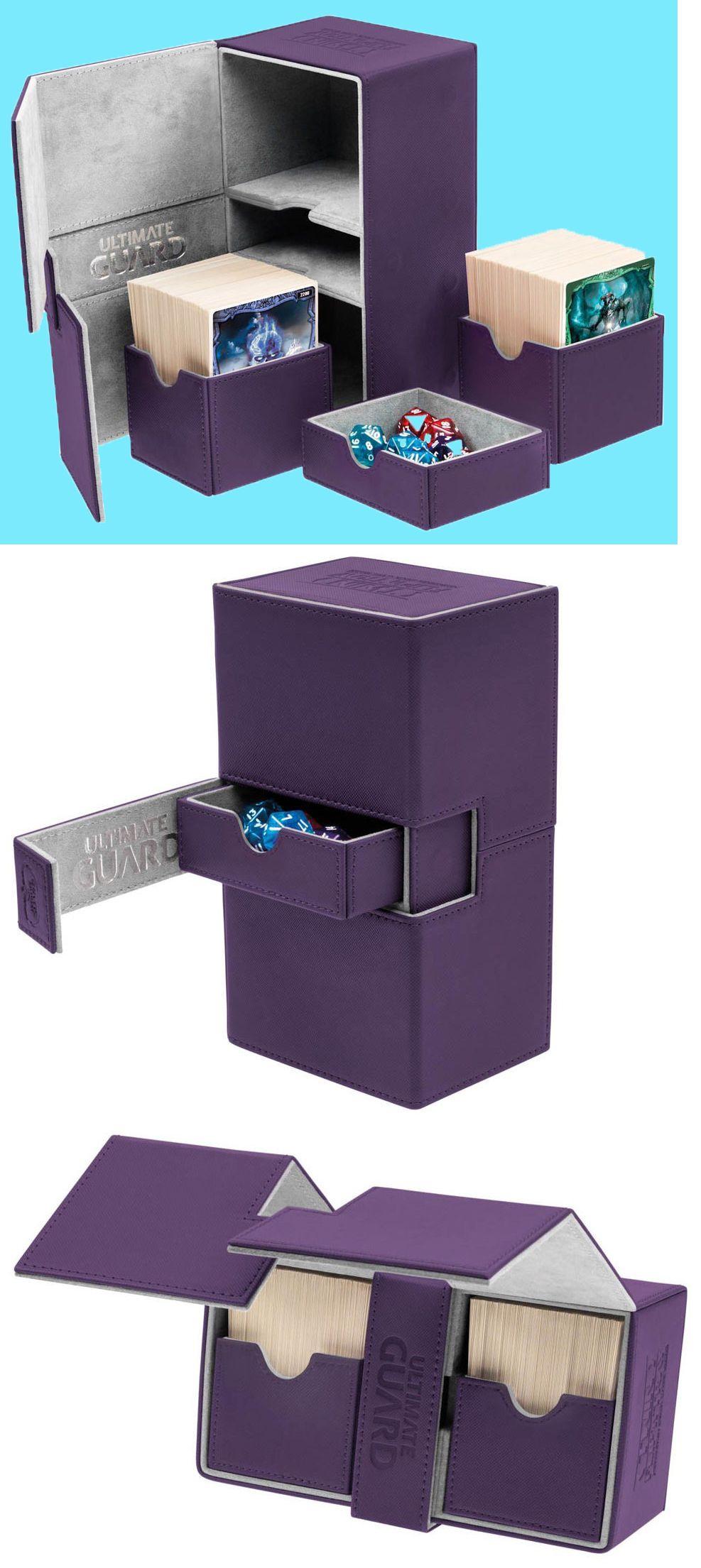 CCG Deck Boxes Ultimate Guard Twin Flip N Tray Purple 160