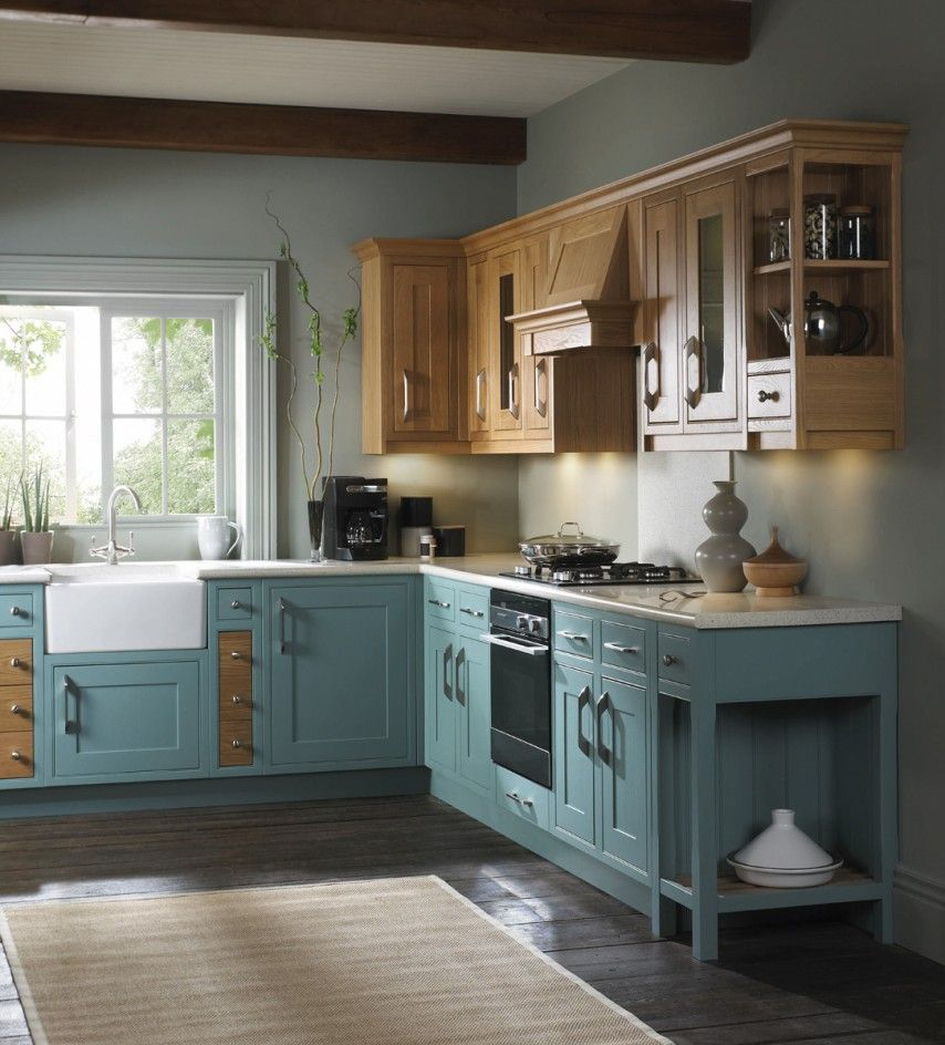 Duck Egg Blue Wooden Kitchen Units - Google Search