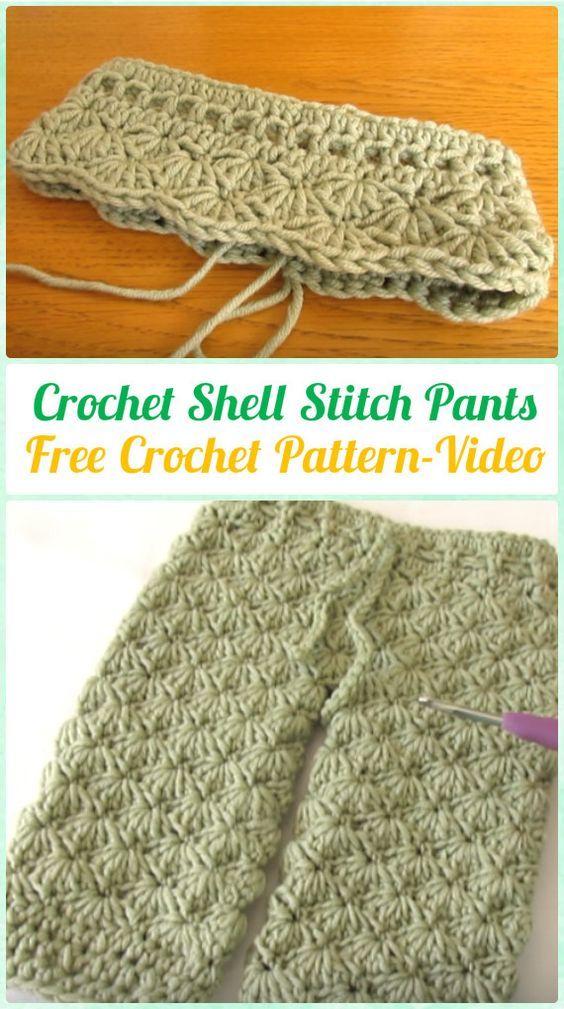 Crochet Shell Stitch Pants Free Pattern Video Crochet Baby Pants