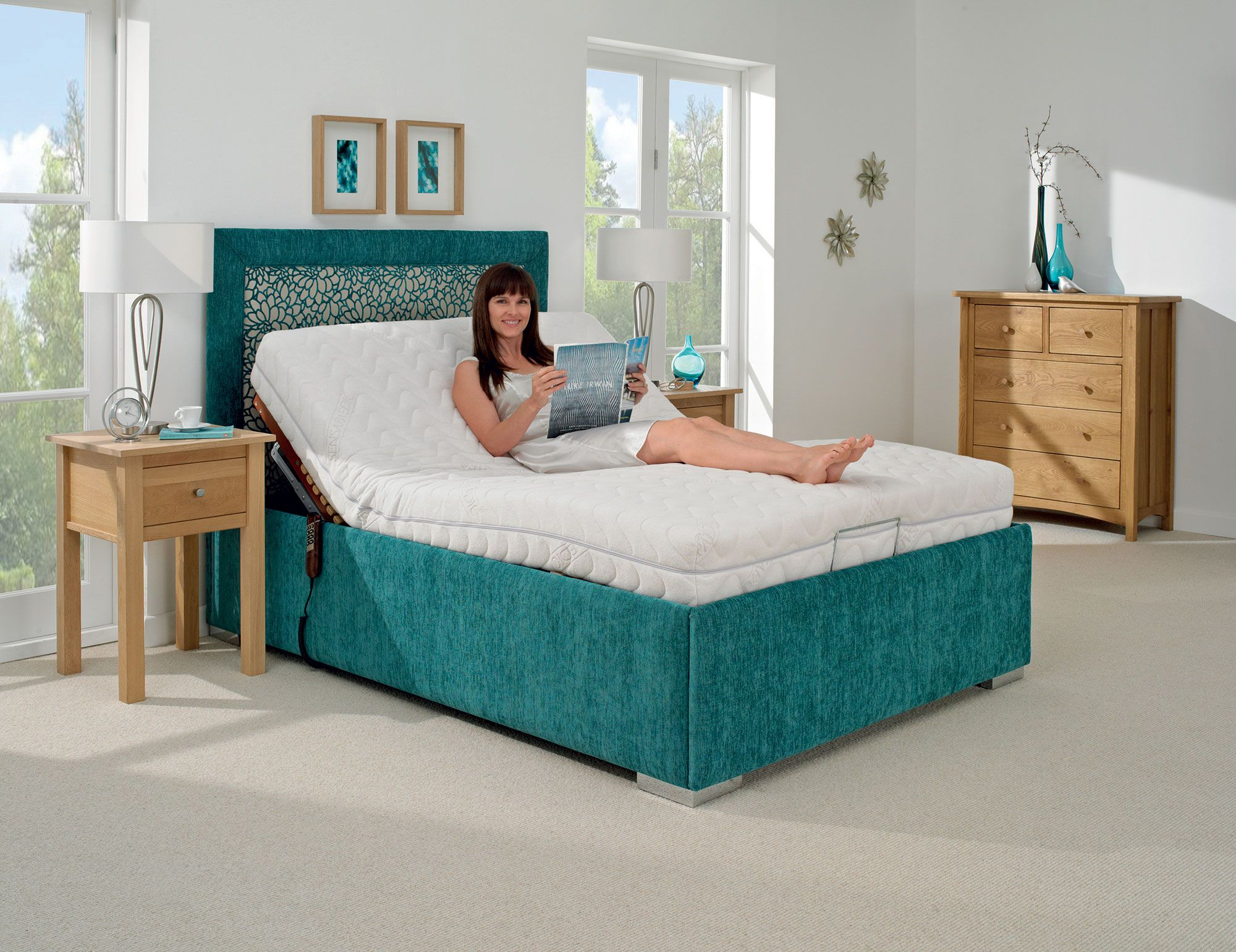 the genoa adjustable bed adjustable electric beds pinterest