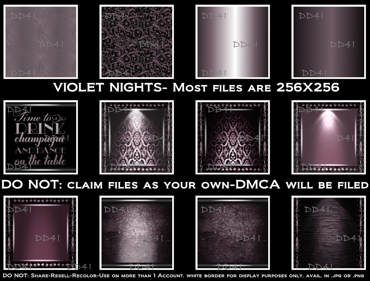 Violet Nights Texture Pack 10 00 50 Textures In Png