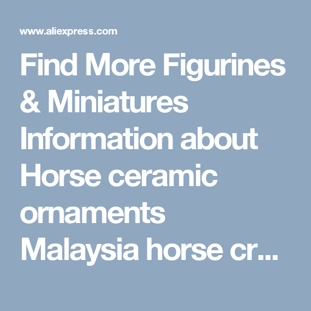 Find More Figurines & Miniatures Information about Horse ceramic ...