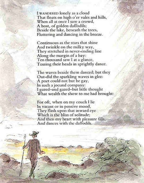 I Wandered Lonely as a Cloud by William Wordsworth (I'm going to ...