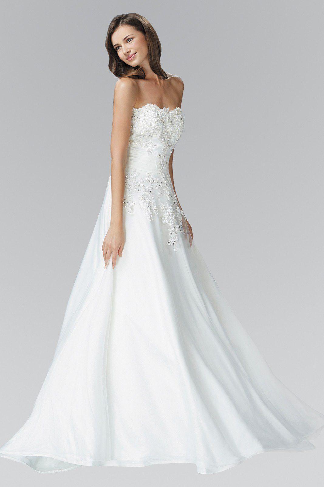 Strapless A-line Ballgown Wedding Dress 103-gl2077 Wedding Dress ...