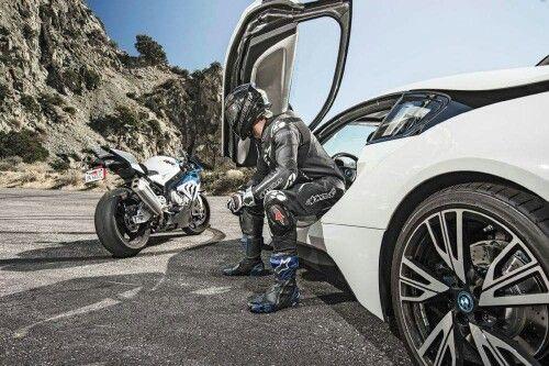 bmw i8 and bmw s1000rr  motorrad fahren ducati biker