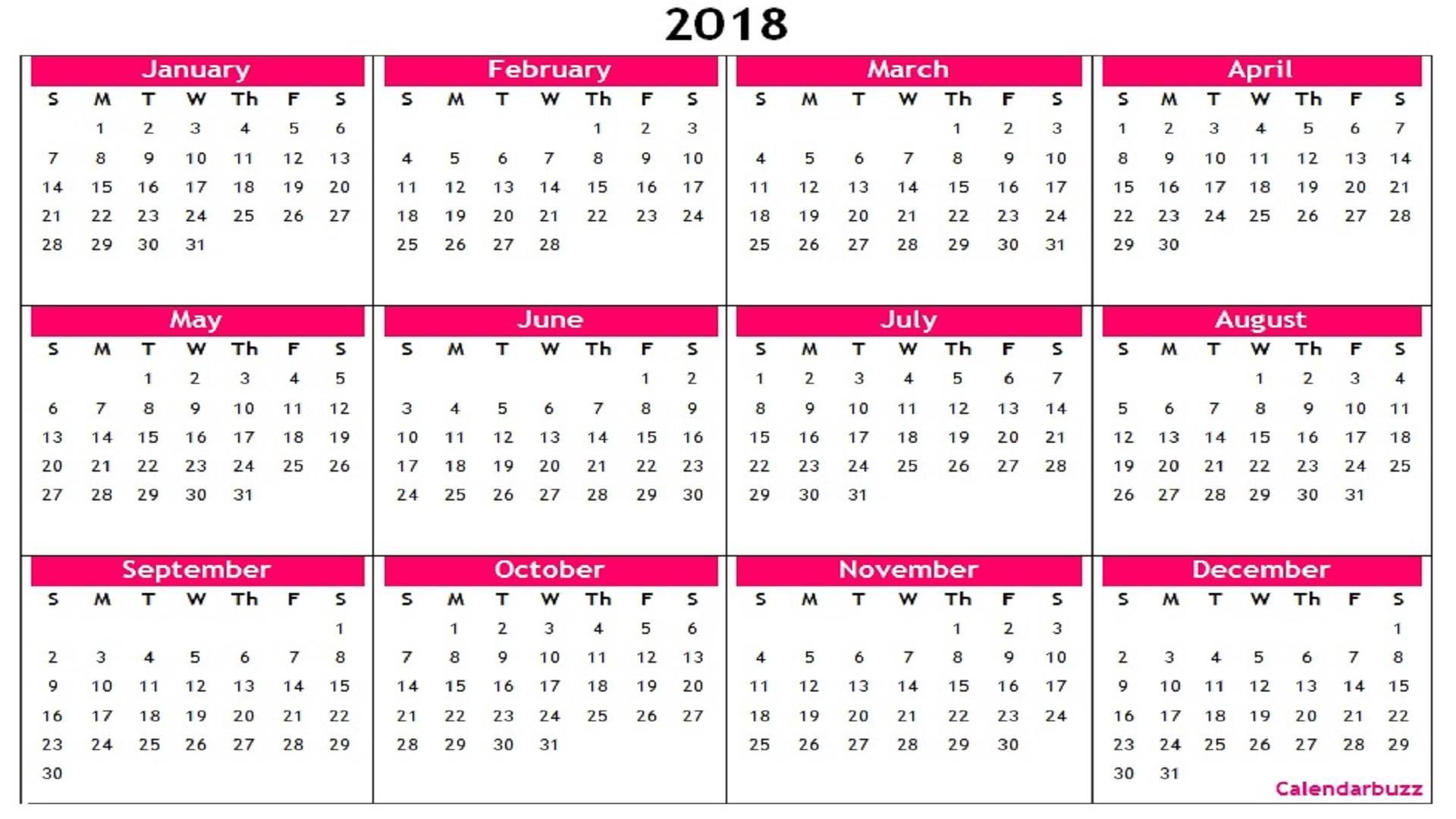 Yearly Calendar Printable   Printable Calendars