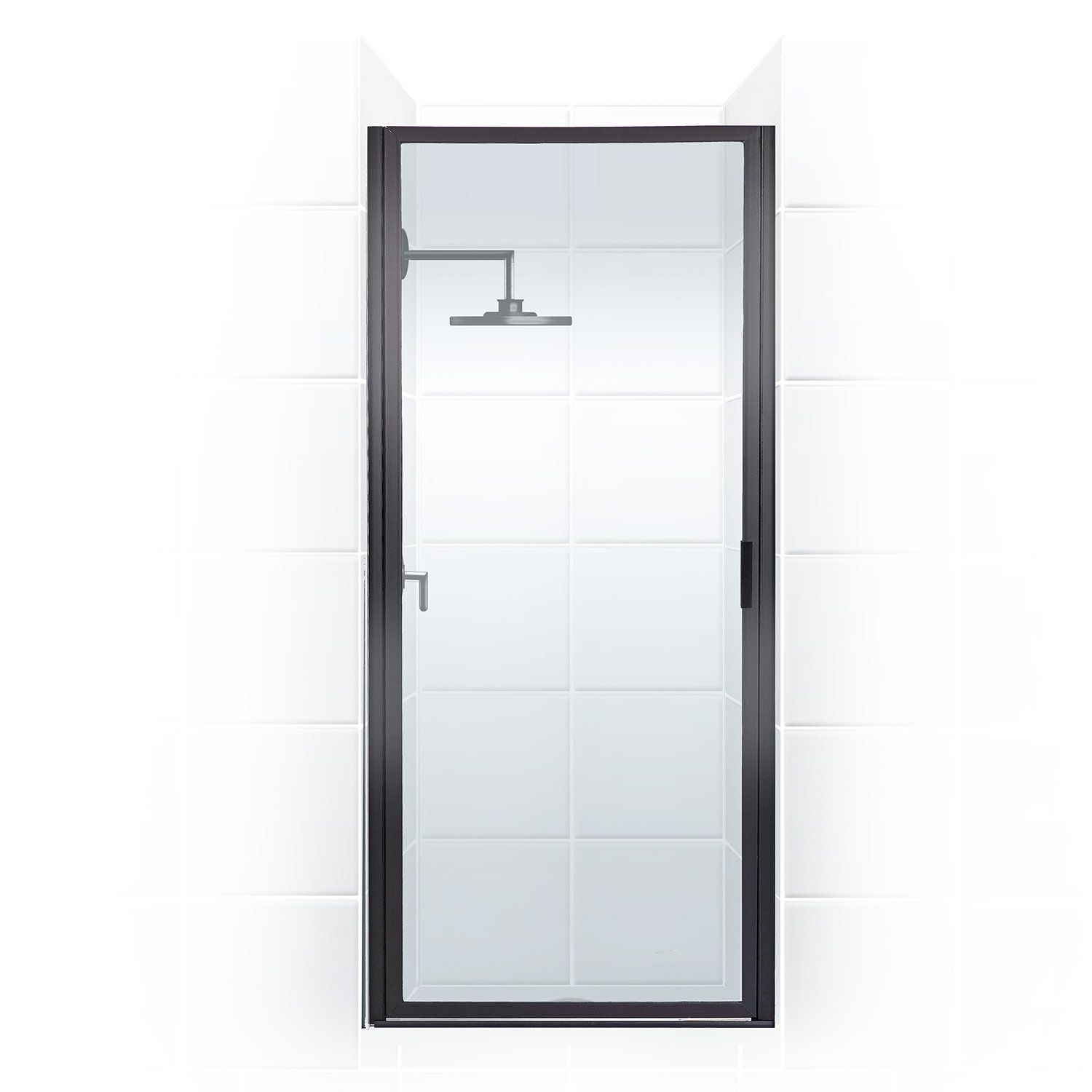 Paragon Series 26 In X 82 In Framed Continuous Hinge Shower Door In Oil Rub Amazon Com Coastal Shower Doors Shower Doors Framed Shower