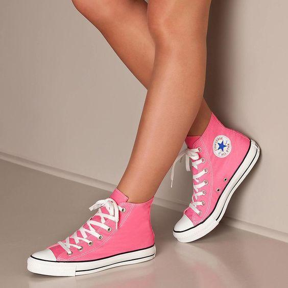 converse ragazza rosa