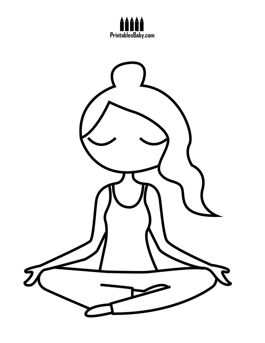Lady Lotus Position Printables Baby Free Printable Posters And Coloring Pages