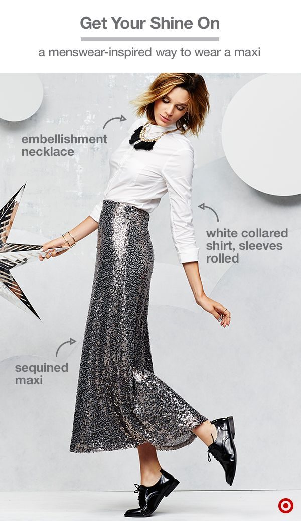 b7b016d38d Dress for star-studded holiday parties with this sequin-covered maxi ...