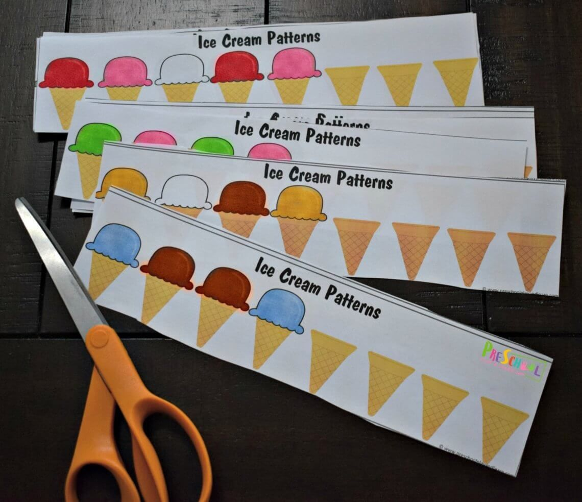 Ice Cream Patterns For Kids