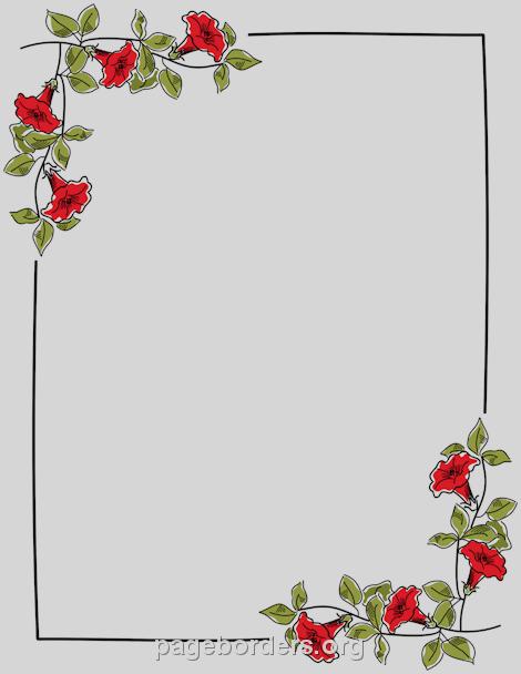 A4 Size Paper Border Designs Free Download Google Search Flower Border Floral Border Design Page Borders Design