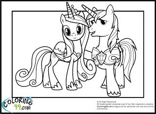 Princess Cadence And Shining Armor My Little Pony Coloring Pages
