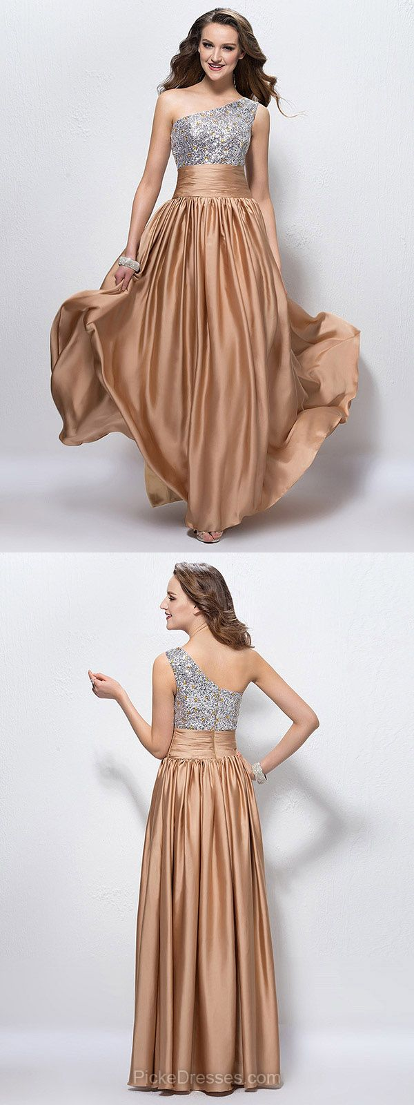 Champagne Prom Dresses Long, Cheap Prom Dresses For Teens 2018, A ...