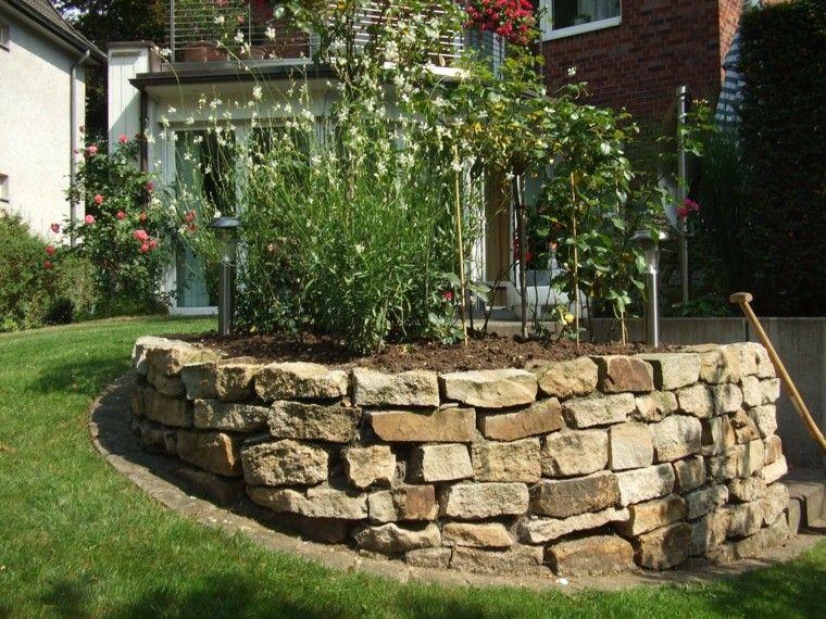 Muros en el jard n 75 ideas que te encantar n jard n for Piedras grandes para jardin