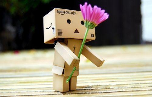 Amazon Box Robot Cuteness