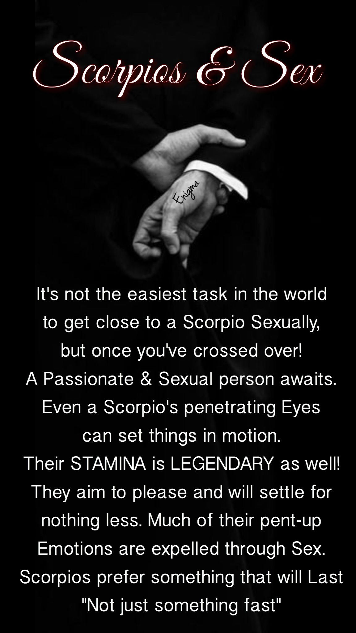 How To Please A Scorpio Man Sexually
