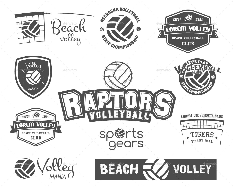 Outdoor Activities Branding Kit Volleyball Sport Volleyball Branding Kit