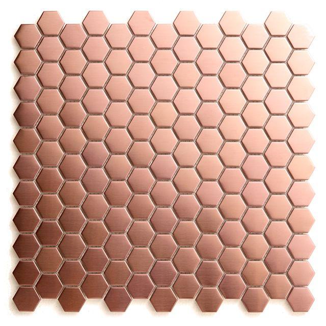 Mosaique Cuivre Hexagonale 30 X 30 Cm Kosuke Deco Cuivre