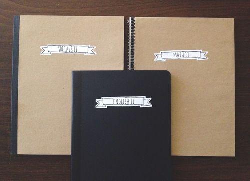 diy notebook cover printable label diy pinterest notebook