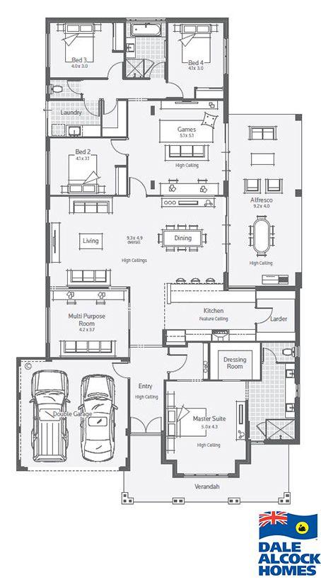 Stoneleigh Dale Alcock Homes Planos 4 Cuartos Sala De