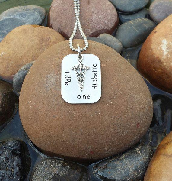 Men's Diabetic Necklace - Men's Medical Alert Necklace, Men's Diabetes Necklace, Men's Diabetic Jewelry, Gift For Diabetic Loved One