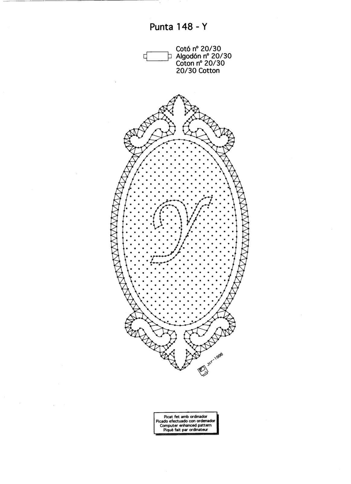 Renda De Bilros Bobbin Lace Letras Letters