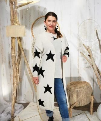 Stella – gilet blanc cassé avec étoile