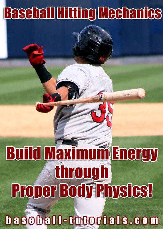 Baseball Hitting Mechanics Maximum Energy Through Body Physics Baseball Hitting Baseball What Is Baseball