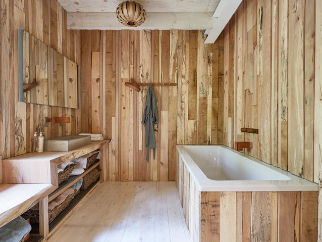 The Timber Wall Clad Wooden Bathroom From The Steam Bent House By Tom Raffield Grand Designs