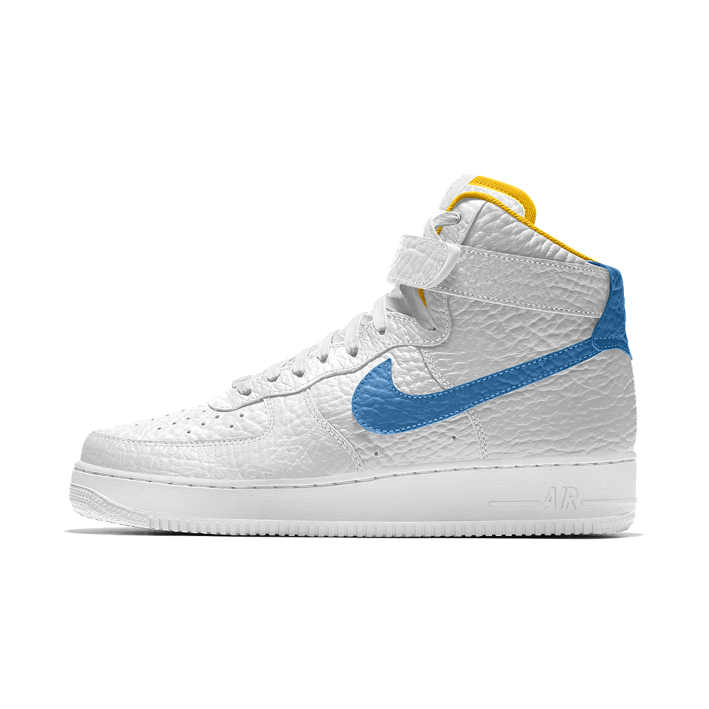 new style 41dbb 10bf0 Nike Air Force 1 High Premium iD (Denver Nuggets) Men s Shoe Size 9.5 (White )