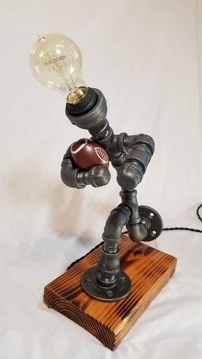 Football Player Lamp Steampunk Lamp Sports Lamp Lampe Diy Lampe Industrielle Lampe Tube