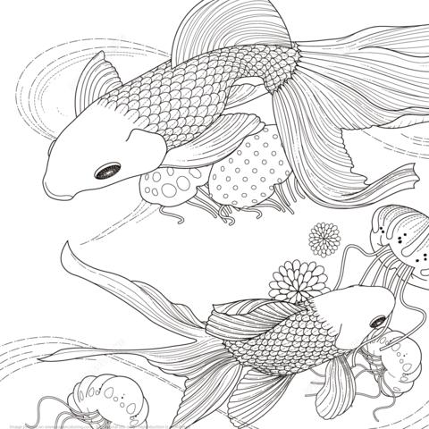 Golden Fish Coloring Page Free Printable Coloring Pages Vogel Malvorlagen Malvorlagen Tiere Kostenlose Erwachsenen Malvorlagen