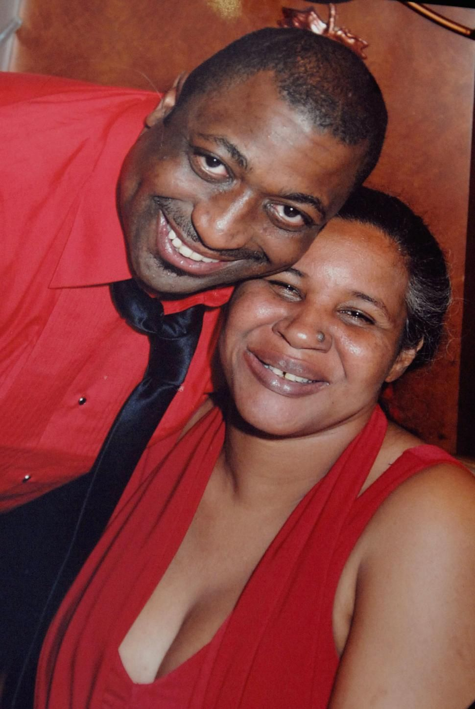 Eric Garner With His Wife Garner Died While Being Held Down In A