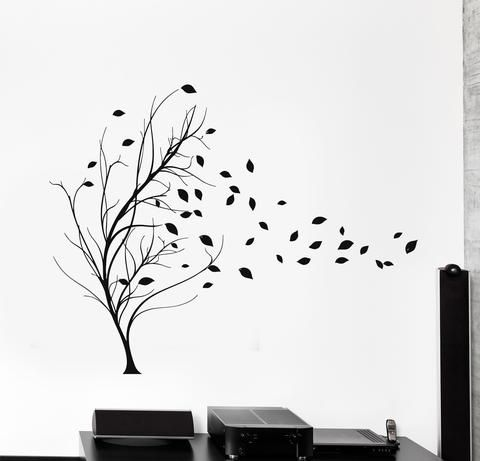 Vinyl Wall Decal Tree Leaves House Interior Room Stickers (ig4230