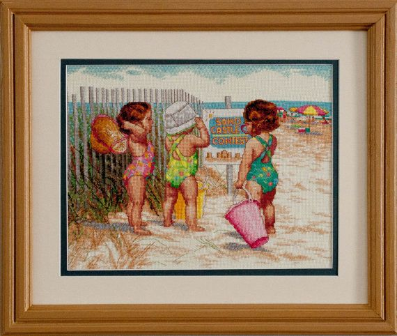 BEACH BABIES by LCCROSSTITCH on Etsy