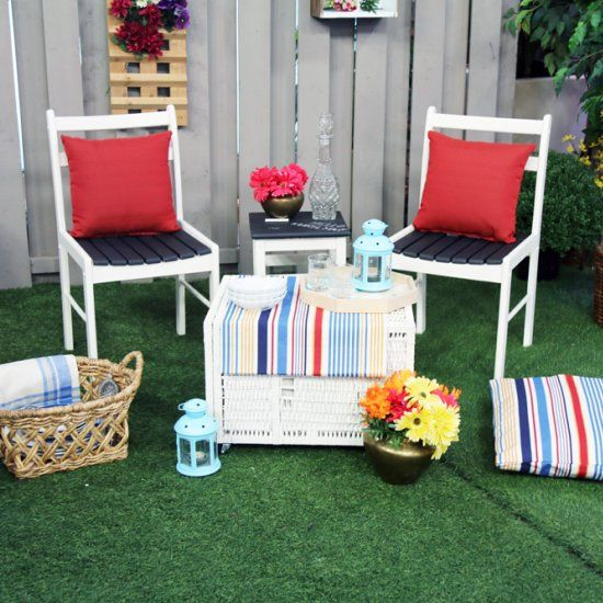 EVERYTHING in this photo is THRIFTED and Refinished into beautiful Outdoor Garden Oasis! See the Before/After.