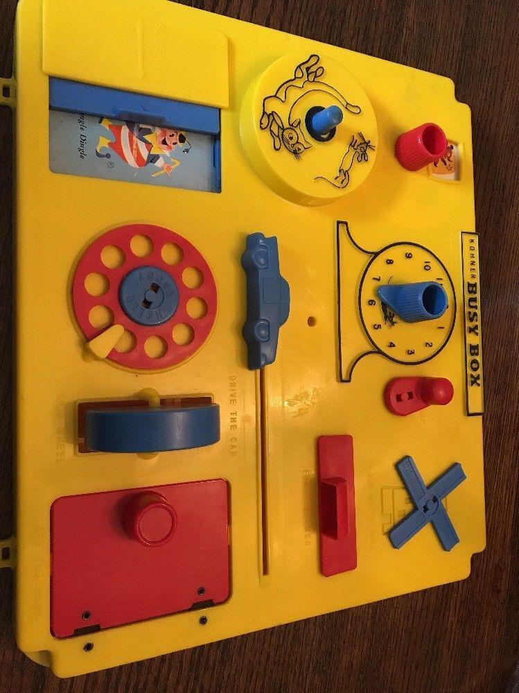 Vintage Baby Toy 1960s Kohner Baby S Crib Playpen Busy Box Activity