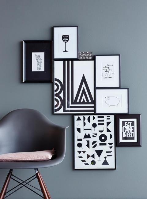 Klassisch Grau, Schwarz  Weiß kombinieren deko Pinterest - wohnzimmer deko schwarz weiss