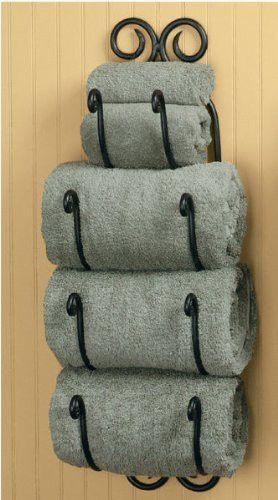 Scroll Bath Towel Holder Towel Holders Towels And Bath - Guest towel holder for bathroom for bathroom decor ideas