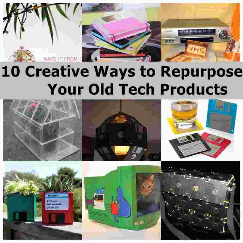 10 Creative Ways To Repurpose Your Old Tech Products Repurposed Wooden Crates Projects Old Technology